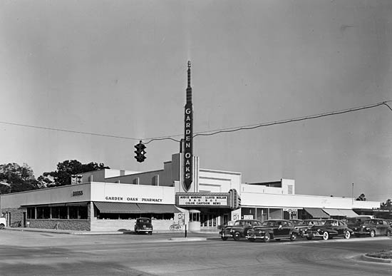 Houston Deco 1940s Garden Oaks Theater